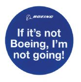 IF IT'S NOT BOEING... Sticker
